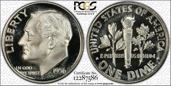 1956 Cameo Proof Roosevelt Dime