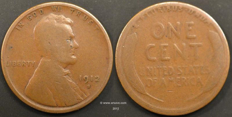 1912-S Circulated Lincoln Cent