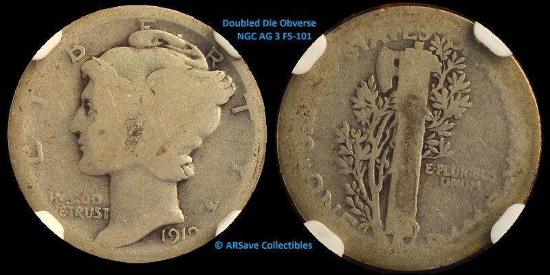 1919 Doubled Die Mercury Dime