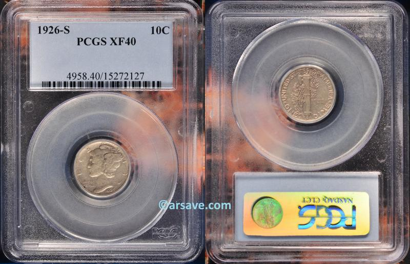 PCGS Graded XF40 Semi-key Mercury Dime