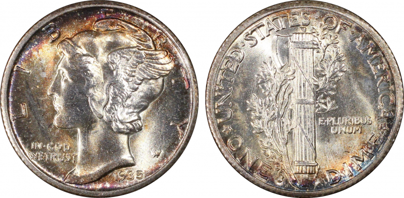 PCGS Image showing the beautifil tones