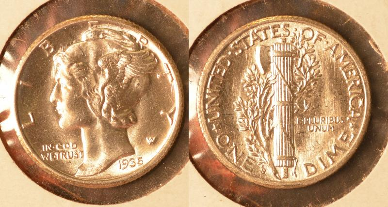 1935-S Mercury Dime Uncirculated