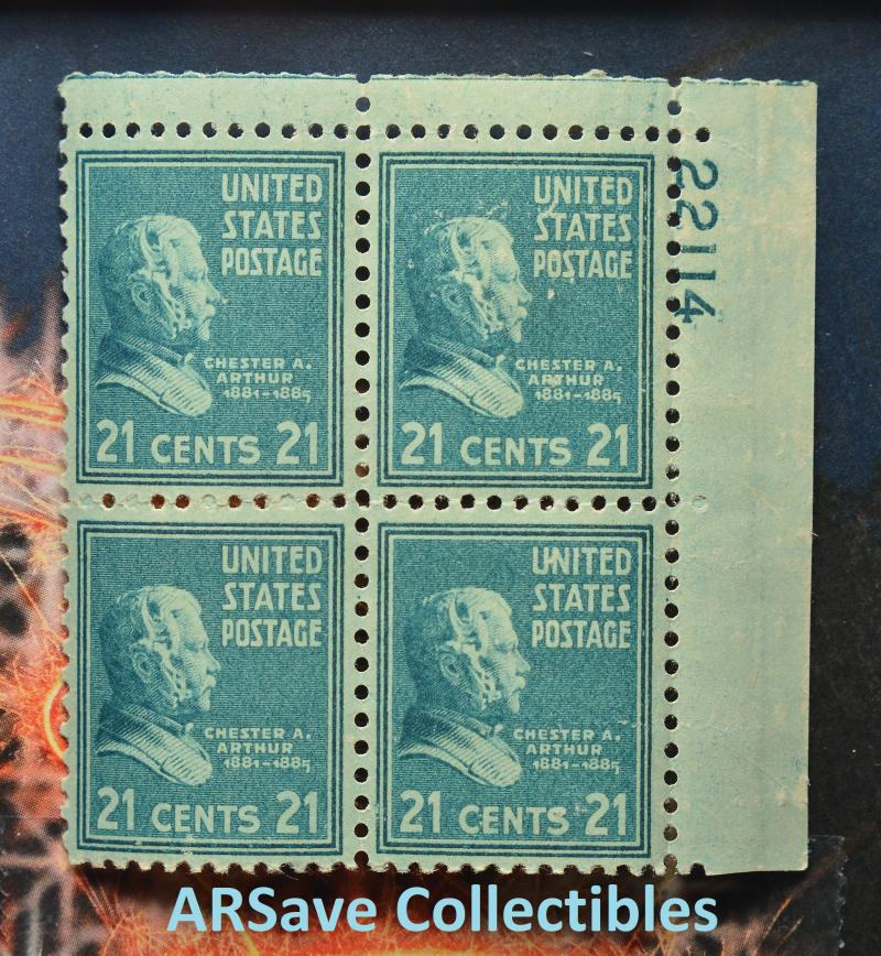 1936 Chester A. Arthur #826 Upper Right 22114