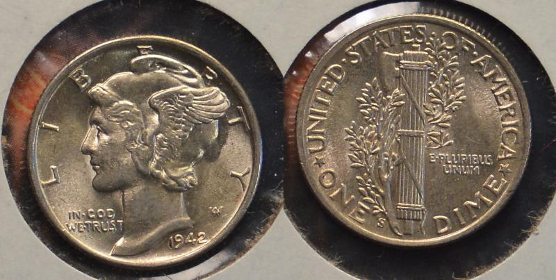 1942-S Mercury Dime ARSave Collectibles