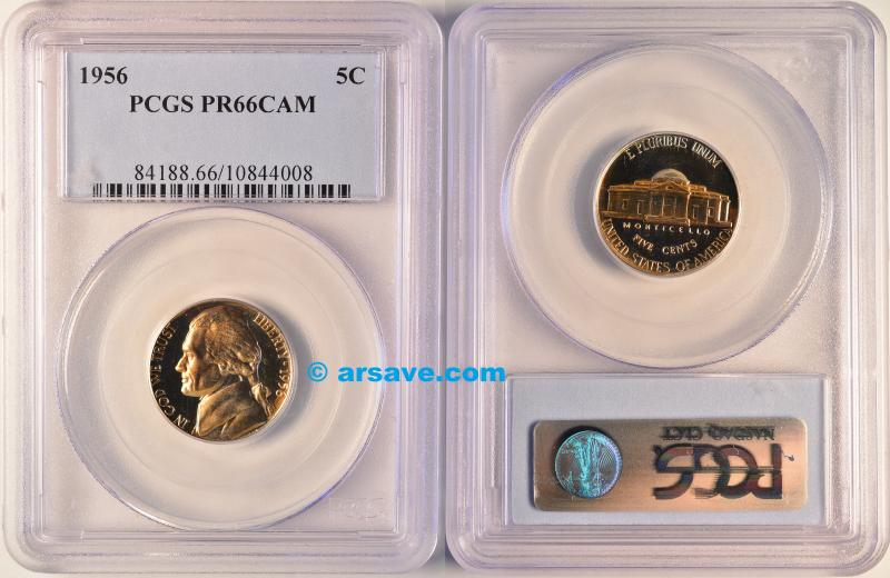 1956 Proof Jefferson Nickel PR66CAM